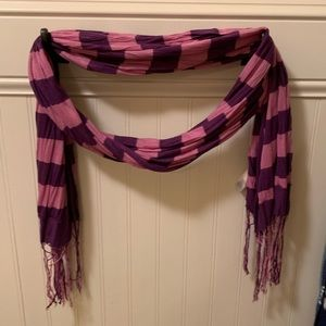 Gap pink and purple striped scarf